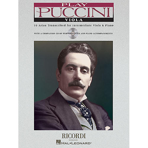 Ricordi Play Puccini (10 Arias Transcribed for Viola & Piano) Instrumental Play-Along Series Softcover with CD-thumbnail
