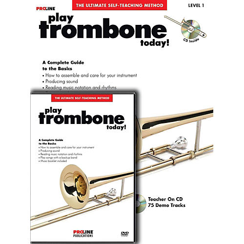 ProLine Play Trombone Today Beginner's Pack Book/CD/DVD