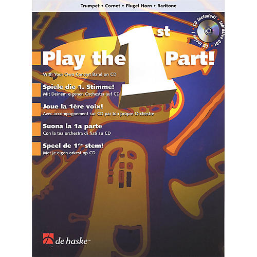De Haske Music Play the 1st Part! - Trumpet/Cornet/Flugel Horn/Baritone De Haske Play-Along Book Softcover with CD-thumbnail