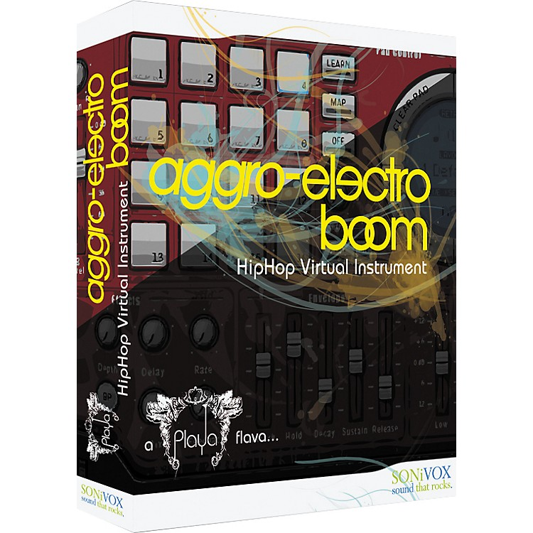 SonivoxPlaya: Aggro Electro Boom Edition - Hip-Hop Samples & Virtual Instruments