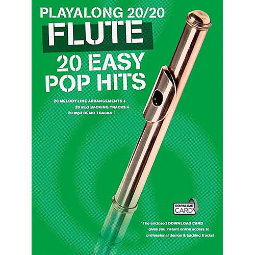 Music Sales Playalong 20/20 Flute - 20 Easy Pop Hits (Book/Audio)-thumbnail
