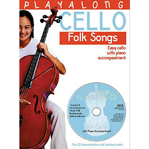 Bosworth Playalong Cello - Folk Songs (Easy Cello with Piano Accompaniment) Music Sales America Series-thumbnail