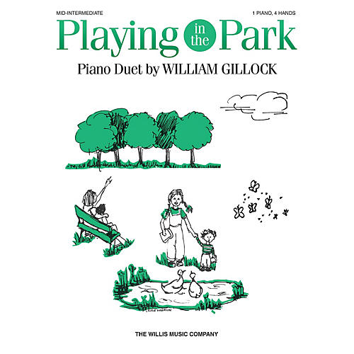 Willis Music Playing in the Park (1 Piano, 4 Hands/Early to Mid-Inter Level) Willis Series by William Gillock-thumbnail