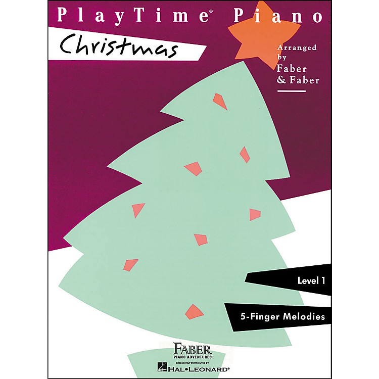 Faber Music Playtime Piano Christmas Level 1 F-Finger Melodies - Faber Piano