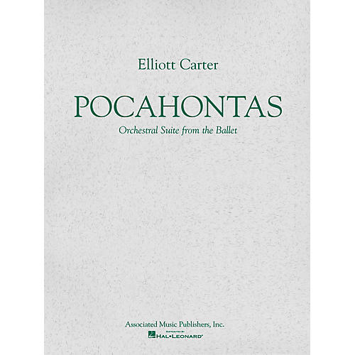Associated Pocahontas (Ballet Suite) (Study Score) Study Score Series Composed by Elliott Carter-thumbnail