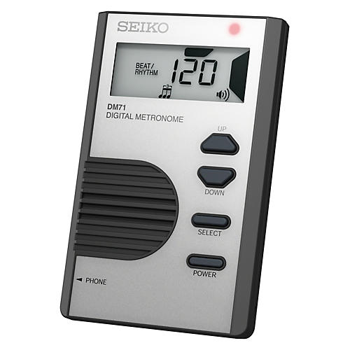 Seiko Pocket Digital Metronome Silver