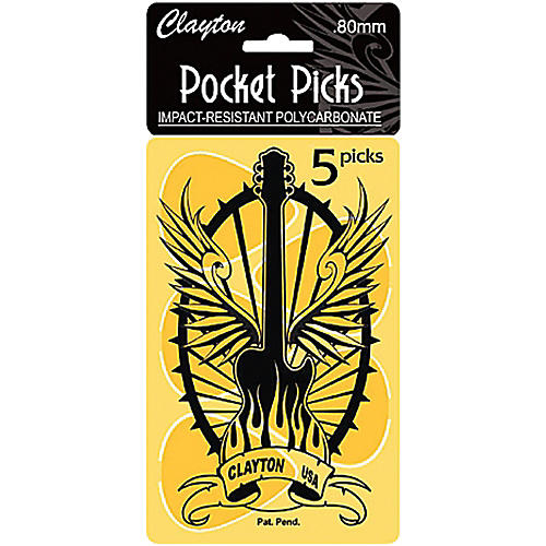 Clayton Pocket Picks Guitar Pick Card