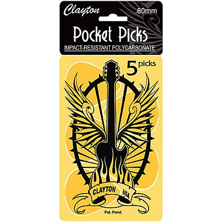 ClaytonPocket Picks Guitar Pick Card.80 MM