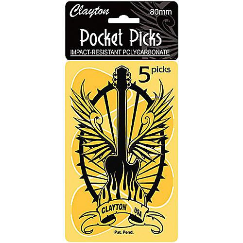 Clayton Pocket Picks Guitar Pick Card .80 mm