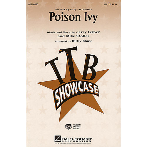 Hal Leonard Poison Ivy TBB arranged by Kirby Shaw