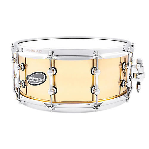 Ahead Polished Cast Bell Brass Snare Drum-thumbnail