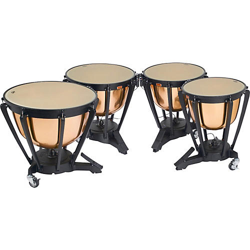 Yamaha Polished Copper Timpani Set 23, 26, 29, 32 Inch w/Covers