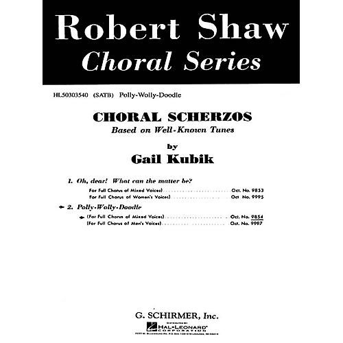 G. Schirmer Polly Wolly Doodle A Cappella SATB composed by Traditional-thumbnail