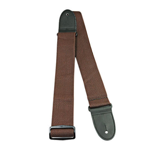 Perri's Poly Pro Guitar Strap with Deluxe Ends Brown