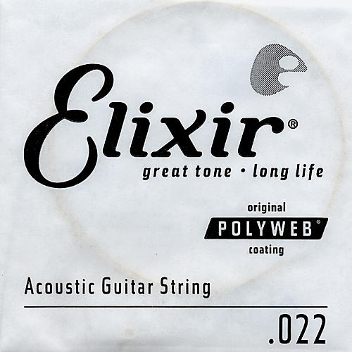 Elixir Polyweb .022 Acoustic Guitar String 4-Pack Singles