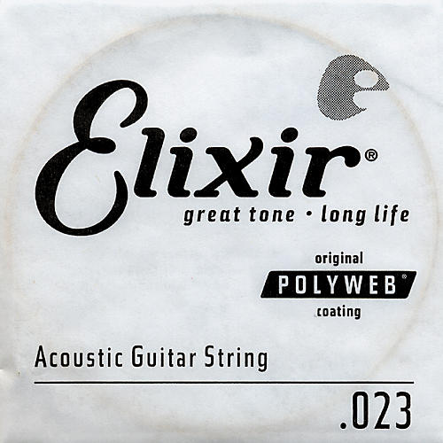 Elixir Polyweb .023 Acoustic Guitar String 4-Pack Singles