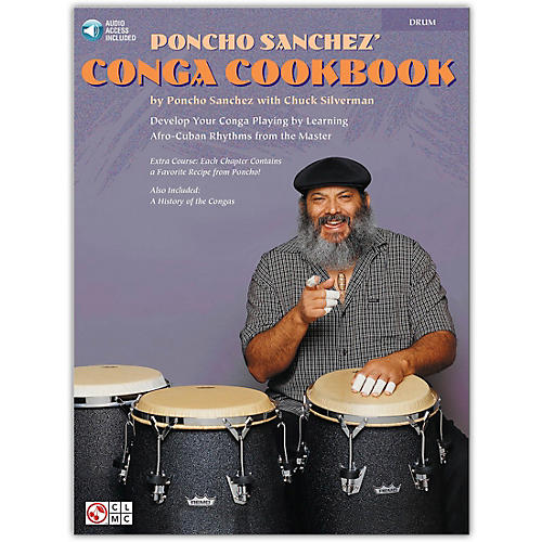 Hal Leonard Poncho Sanchez' Conga CookBook/Online Audio (Percussion / Conga Drums / Congas) Book/Online Audio