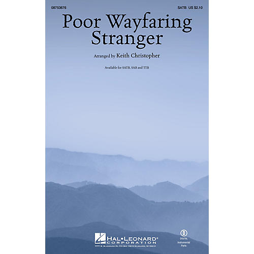 Hal Leonard Poor Wayfaring Stranger SAB Arranged by Keith Christopher-thumbnail