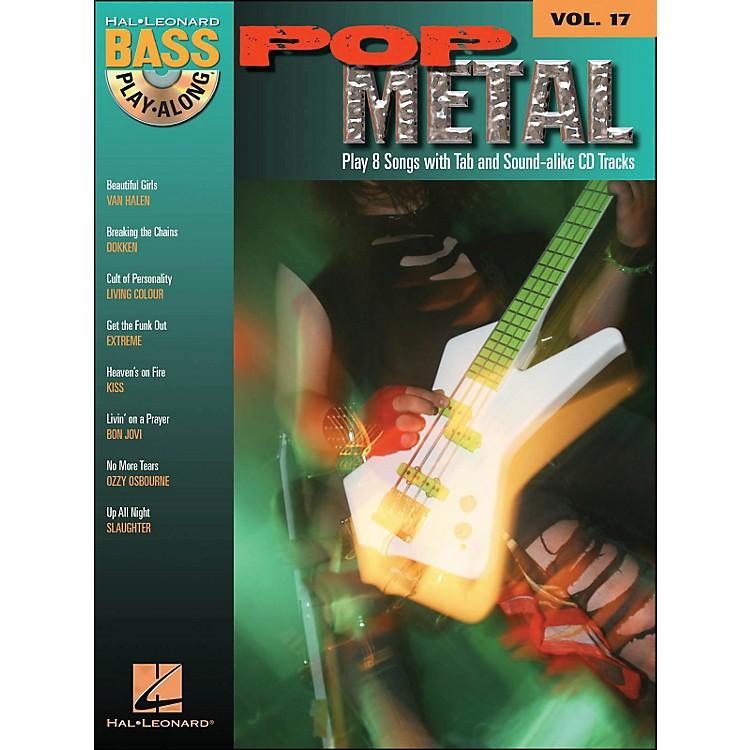 Hal LeonardPop Metal Bass Play-Along Volume 17 Book/CD
