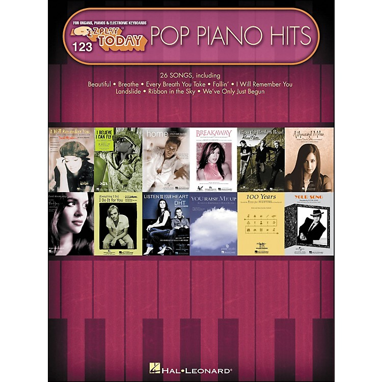 Hal Leonard Pop Piano Hits E-Z Play 123