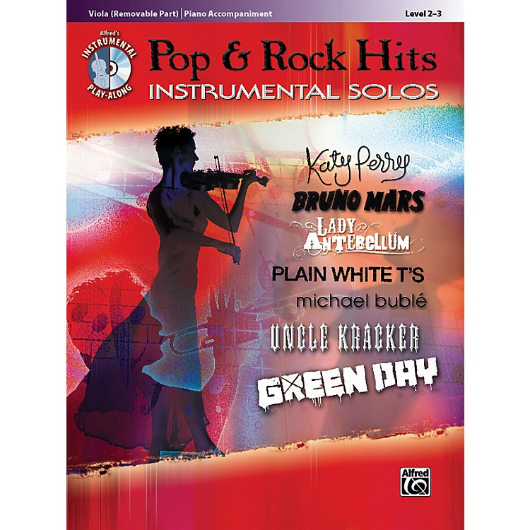 AlfredPop & Rock Hits Instrumental Solos Viola Book & CD