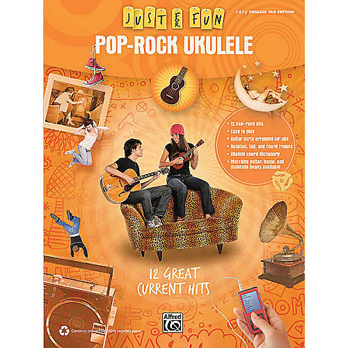 Hal Leonard Pop-Rock Ukulele (Just for Fun Series) Easy Guitar Series Softcover Performed by Various-thumbnail