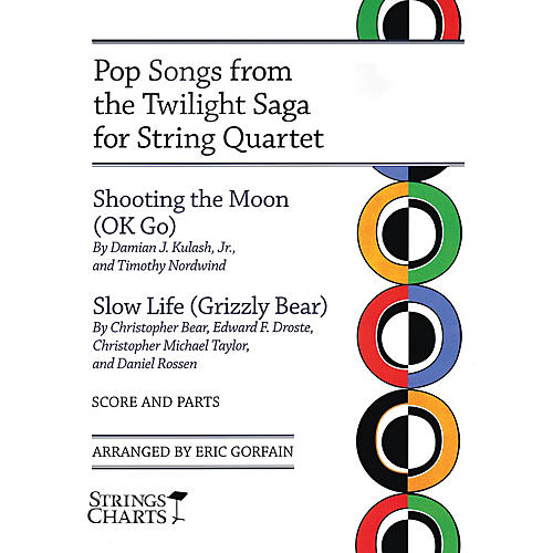 String Letter Publishing Pop Songs from the Twilight Saga for String Quartet String Letter Publishing by OK Go Arranged by Gorfain-thumbnail