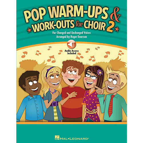 Hal Leonard Pop Warm-Ups and Work-Outs for Choir, Vol. 2 BOOK WITH AUDIO ONLINE arranged by Roger Emerson-thumbnail