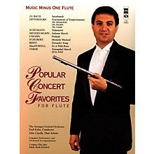 Music Minus One Popular Concert Favorites for Flute Music Minus One Series Softcover with CD
