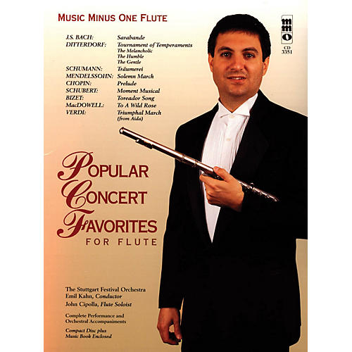 Music Minus One Popular Concert Favorites for Flute Music Minus One Series Softcover with CD-thumbnail