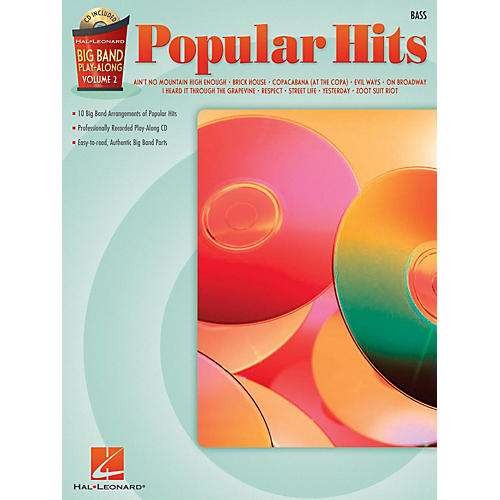 Hal Leonard Popular Hits - Bass (Big Band Play-Along Volume 2) Big Band Play-Along Series Softcover with CD