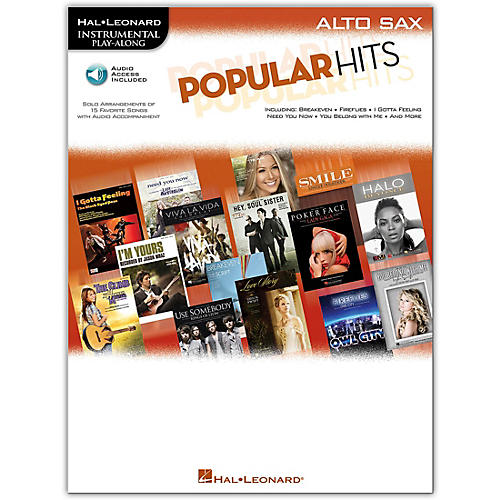 Hal Leonard Popular Hits For Alto Sax - Instrumental Play-Along Book/CD
