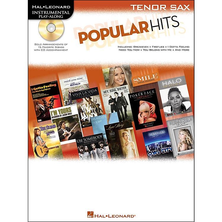 Hal LeonardPopular Hits For Tenor Sax - Instrumental Play-Along Book/CD