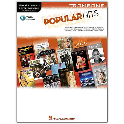 Hal Leonard Popular Hits For Trombone - Instrumental Play-Along Book/Online Audio