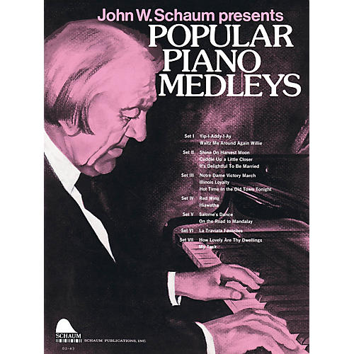 SCHAUM Popular Piano Medleys Educational Piano Series Softcover-thumbnail