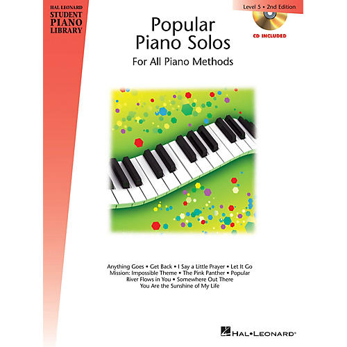 Hal Leonard Popular Piano Solos - 2nd Edition - Level 5 Piano Library Series Book with CD by Various (Level Inter)-thumbnail