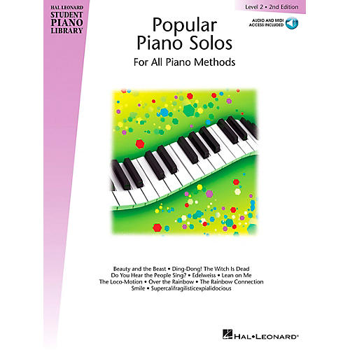 Hal Leonard Popular Piano Solos 2nd Edition - Level 2 Piano Library Series Book with CD by Various (Level Elem)