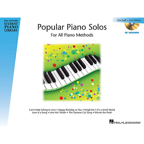 Hal Leonard Popular Piano Solos 2nd Edition - Prestaff Level Educational Piano Library Book with CD by Various-thumbnail