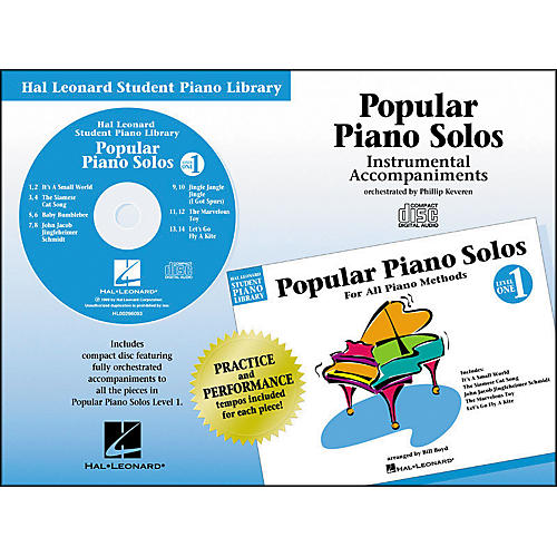 Hal Leonard Popular Piano Solos Book 1 Accompaniment CD Hal Leonard Student Piano Library by Phillip Keveren
