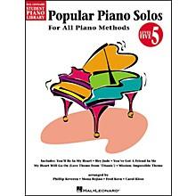 Hal Leonard Popular Piano Solos Book 5 Hal Leonard Student Piano Library