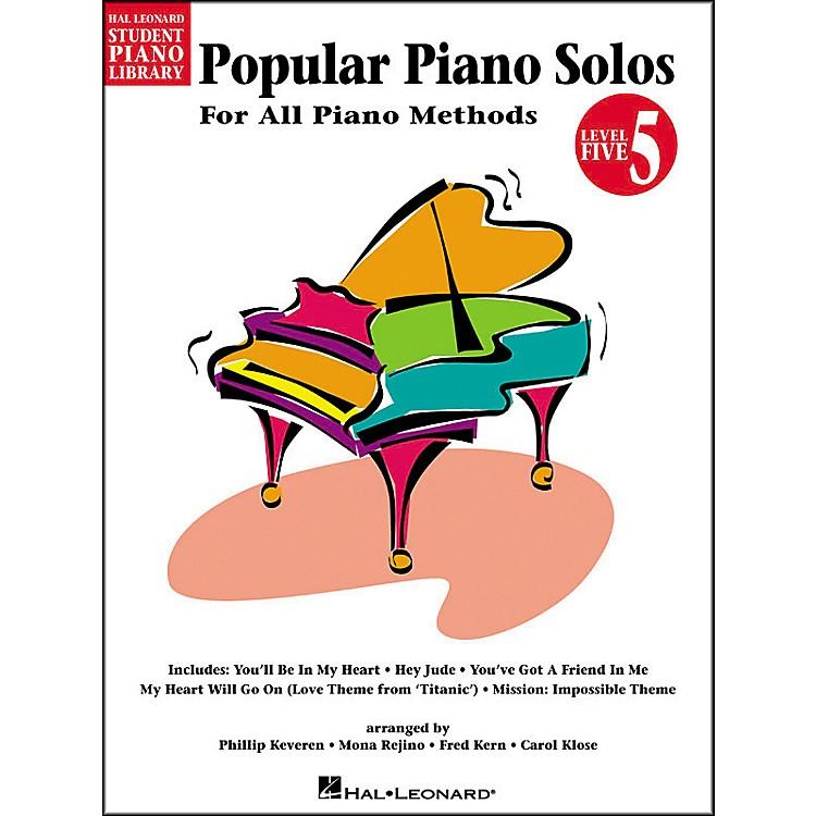 Hal LeonardPopular Piano Solos Book 5 Hal Leonard Student Piano Library