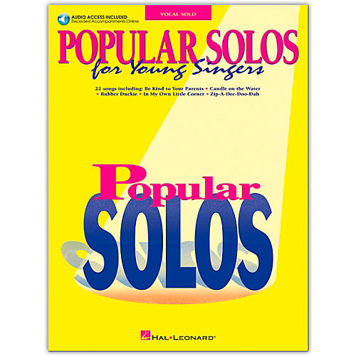 Hal Leonard Popular Solos for Young Singers Book/CD