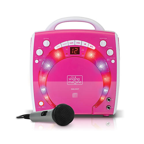 The Singing Machine Portable CD & Graphics Karaoke System Pink