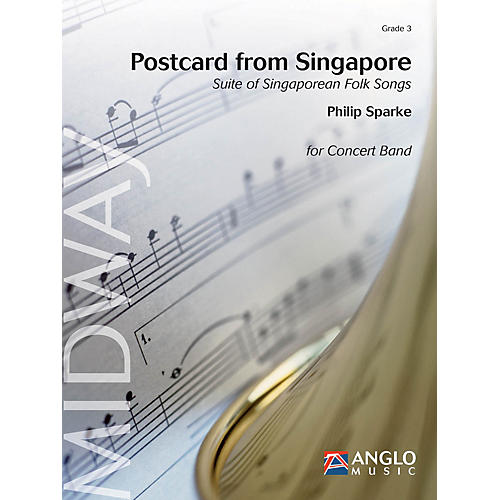 Anglo Music Postcard from Singapore (Grade 3 - Score Only) Concert Band Level 3 Composed by Philip Sparke-thumbnail
