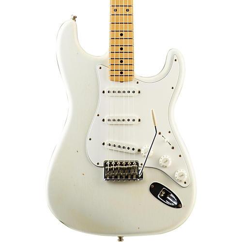 Fender Custom Shop Postmodern Journeyman Relic Stratocaster Electric Guitar Olympic White Maple