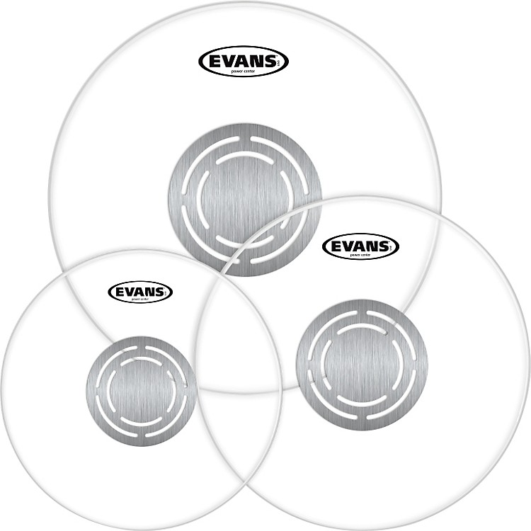 Evans Power Center Clear Drumhead Pack