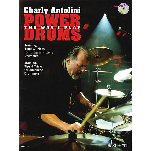 Schott Power Drums (Training, Tips & Tricks for Advanced Drummers) Schott Series Softcover with CD-thumbnail