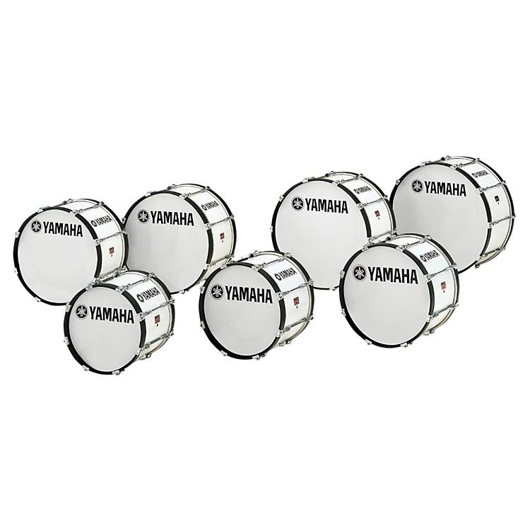 YamahaPower-Lite Marching Bass DrumWhite Wrap26x14