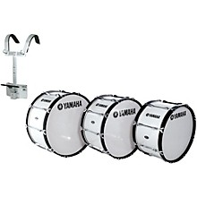 Yamaha Power-Lite Marching Bass Drum with Carrier White Wrap 16x13 Inch