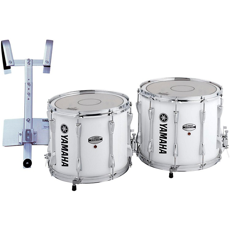 Yamaha Power-Lite Marching Snare Drum with Carrier White Wrap 14 Inch